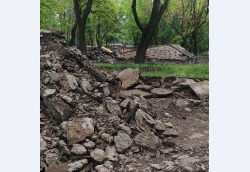 На Кичкасе разрушили парк (ФОТО) Фото № 5