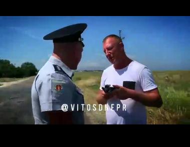 В Запорожской области произошел конфликт между водителем и полицией (ВИДЕО) Фото № 0