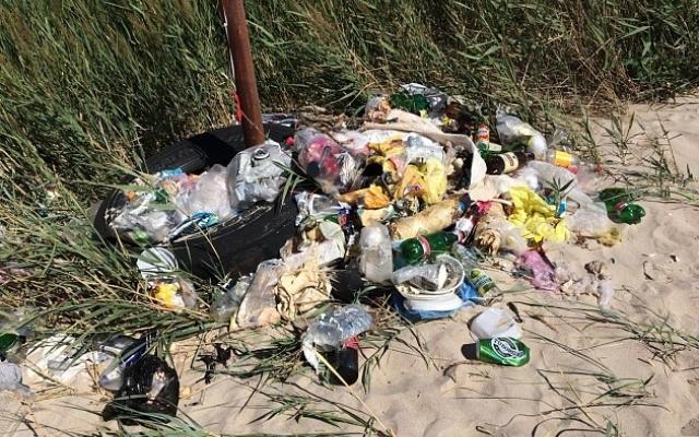 Курортники загадили пляжи Азовского моря (ФОТОФАКТ) Фото № 1