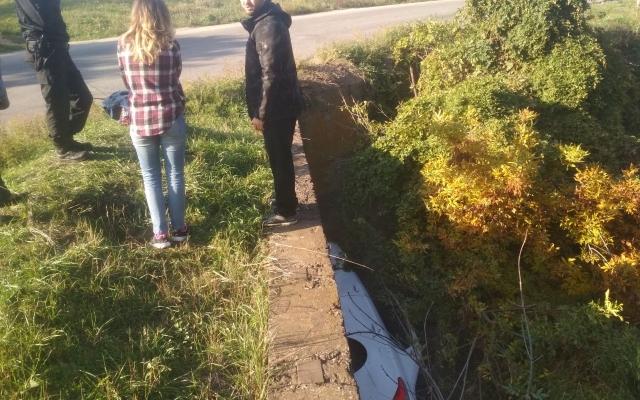 В Запорожье автоледи съехала с моста в водосток (ФОТО) Фото № 2