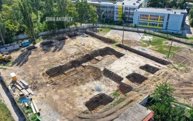 Красивые фото с высоты: Строительство бассейна в Мелитополе Фото № 3