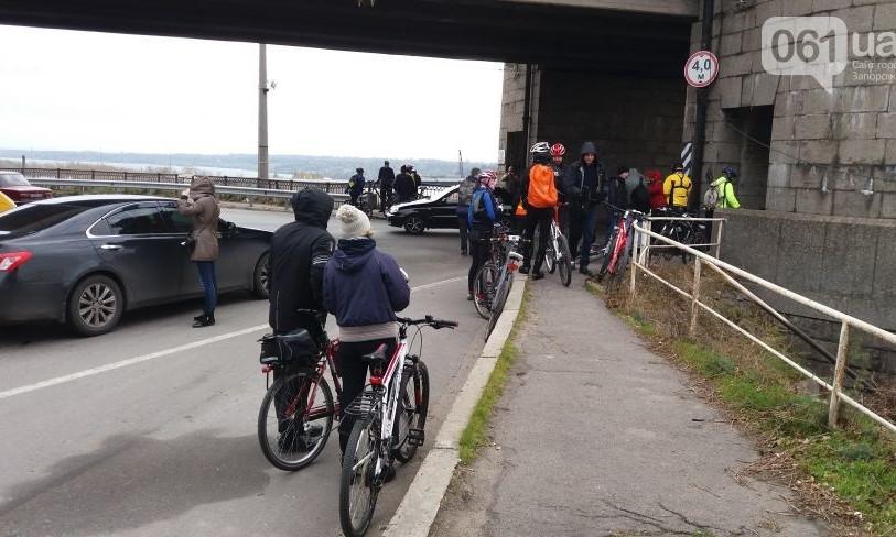 Велосипедисты Запорожья борются за возможность безопасного движения