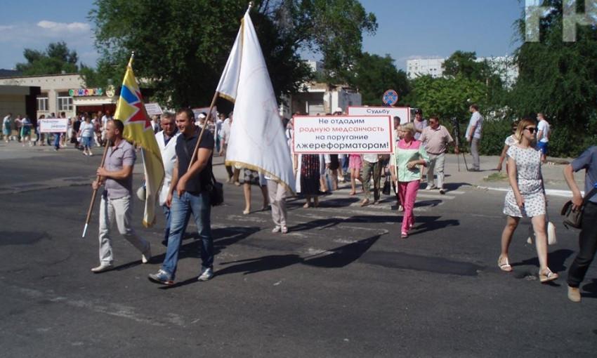 В Запорожской области на митинги выходят медики