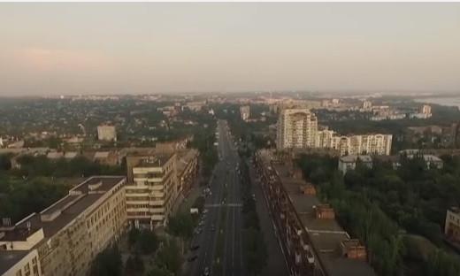 Видео: запорожский проспект с высоты птичьего полета