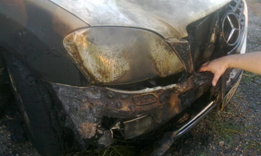 В Гуляйполе сгорел Mercedes