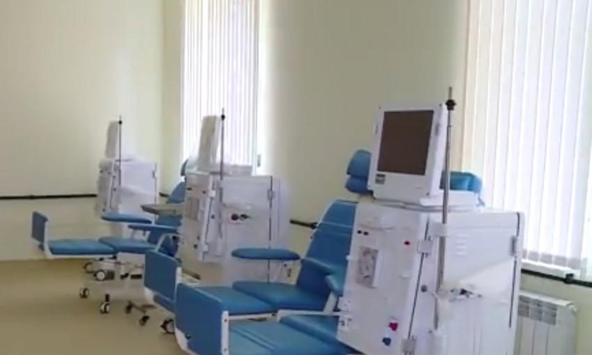 Появилось видео открытия диализного центра в Запорожье