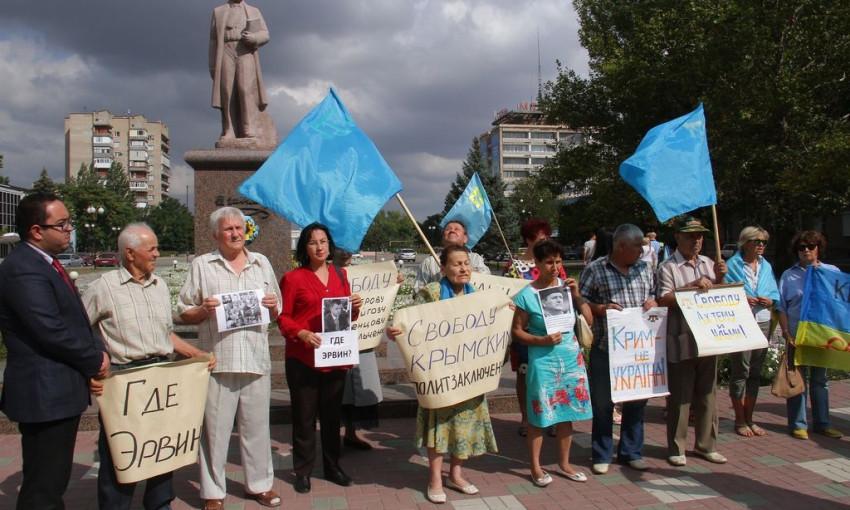 Мелитопольцы выступили в поддержку крымских татар