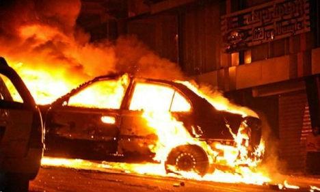 Под Запорожьем дотла выгорел автомобиль
